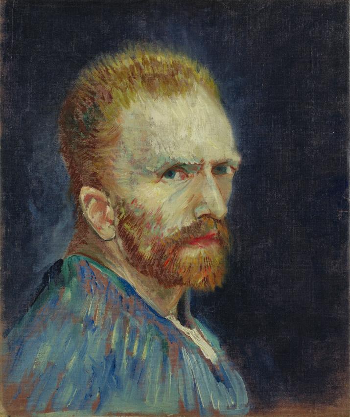 Self-Portrait, Vincent Van Gogh. 1887, oil on canvas. Image: Wadsworth Atheneum Museum of Art via Wikimedia Commons