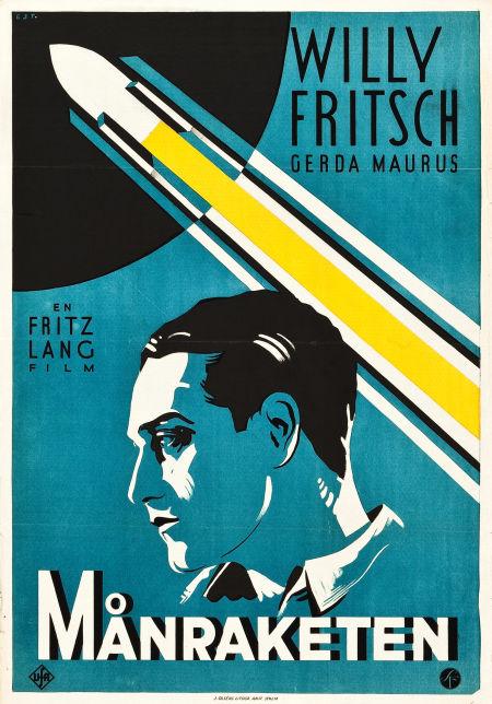 """Filmposter """"Månraketen"""" 1929. Utrop: 25 200 sek. Heritage auctions."""
