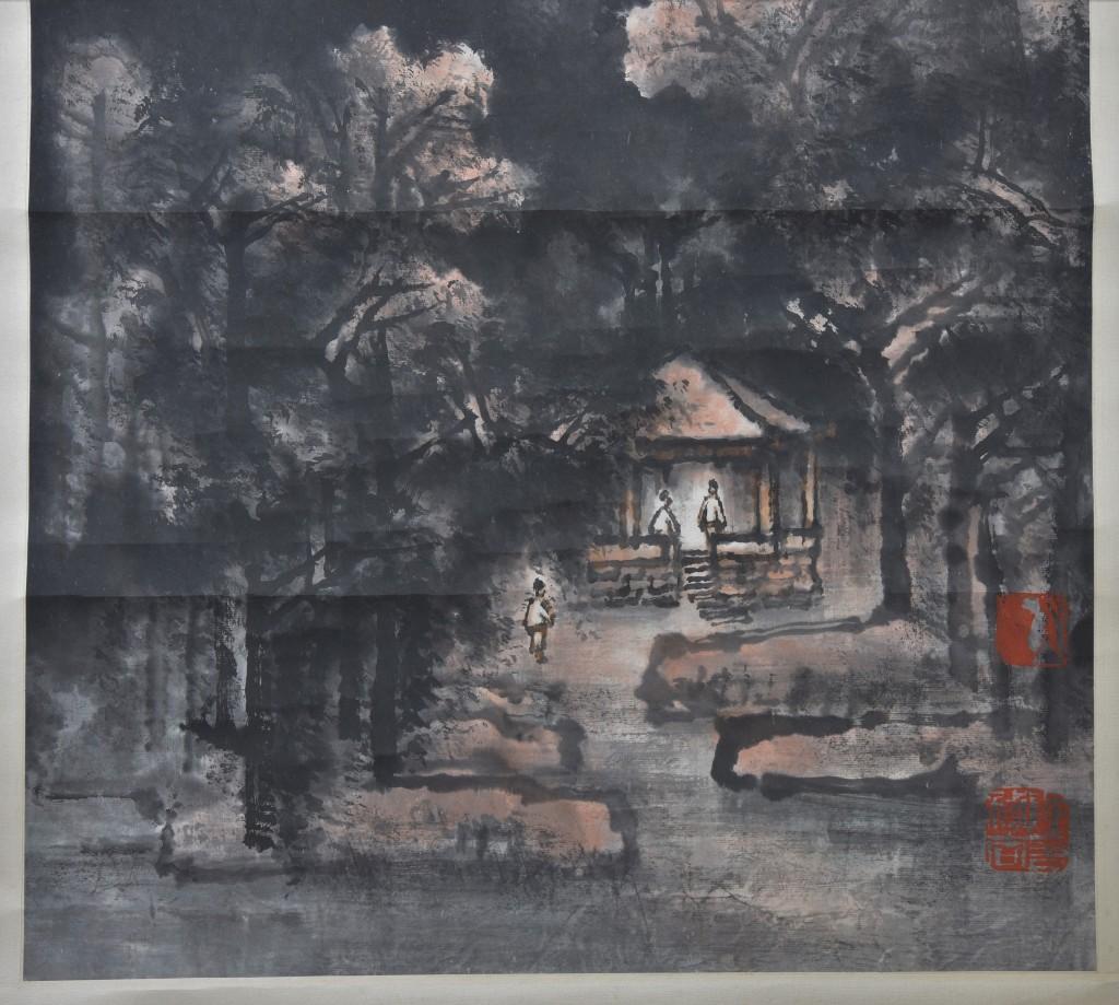 """1982年 """"紅葉吟風"""" , 李可染(1907-1989)"""