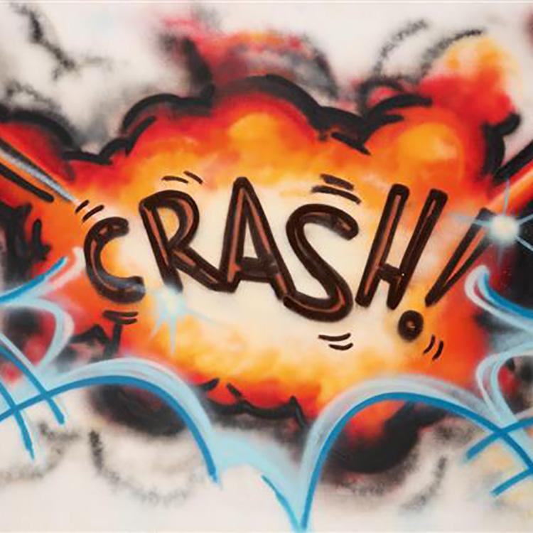 CRASH Sans titre, 1983 Peinture aérosol sur toile Signée et datée 6/83 en bas à droite 126 x 174 cm