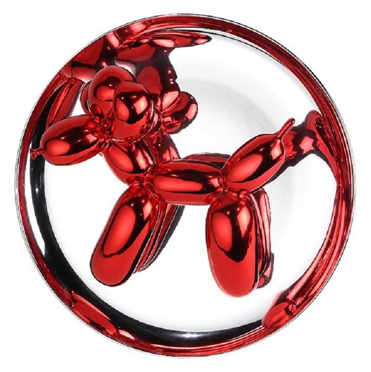 """Jeff Koons """"Ballonghund (Röd)"""", 1995 såld för 99 000 SEK"""