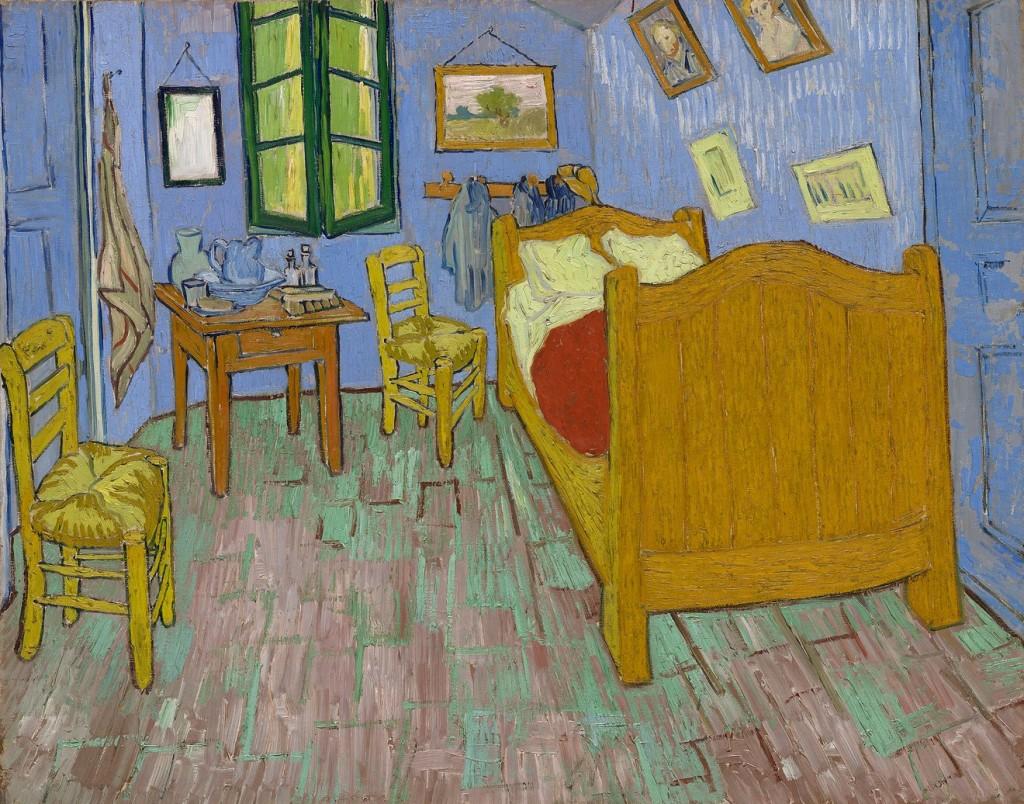 Vincent Van Gogh, La Chambre (1889) Photo: The Art Institute of Chicago.