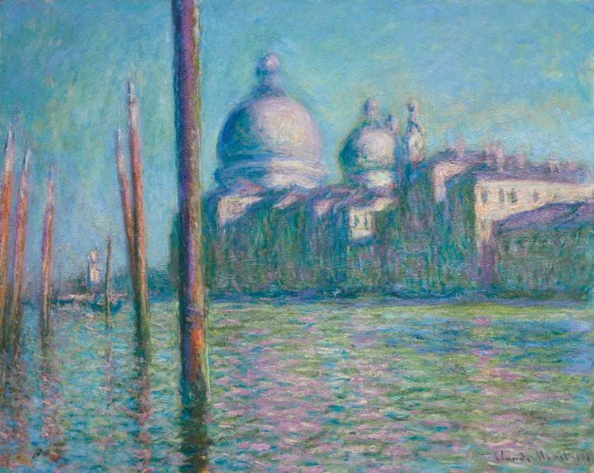 """CLAUDE MONET (1840 - 1926). 1908 malte der Künstler das Gemälde """"LE GRAND CANAL IN VENICE"""". Es wurde in der Sotheby's Auktion für 23,7 Mio. Pfund (aktuell ca. 31,9 Mio. Euro) versteigert."""