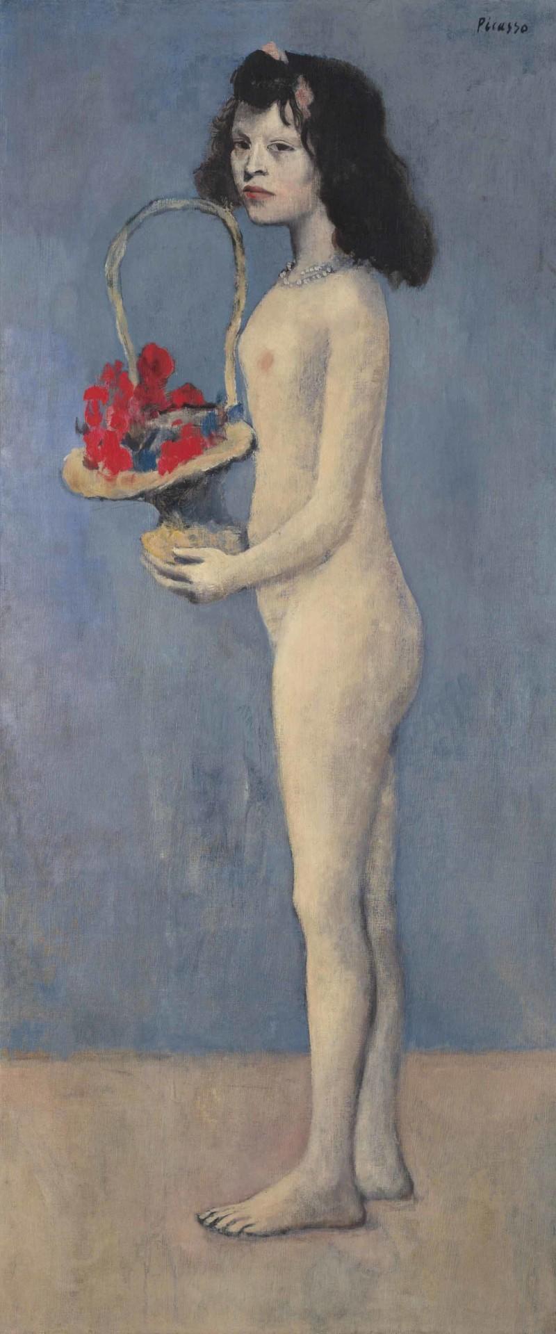 Fillete à la corbielle fleurie, Pablo Picasso. Foto: Christie's.