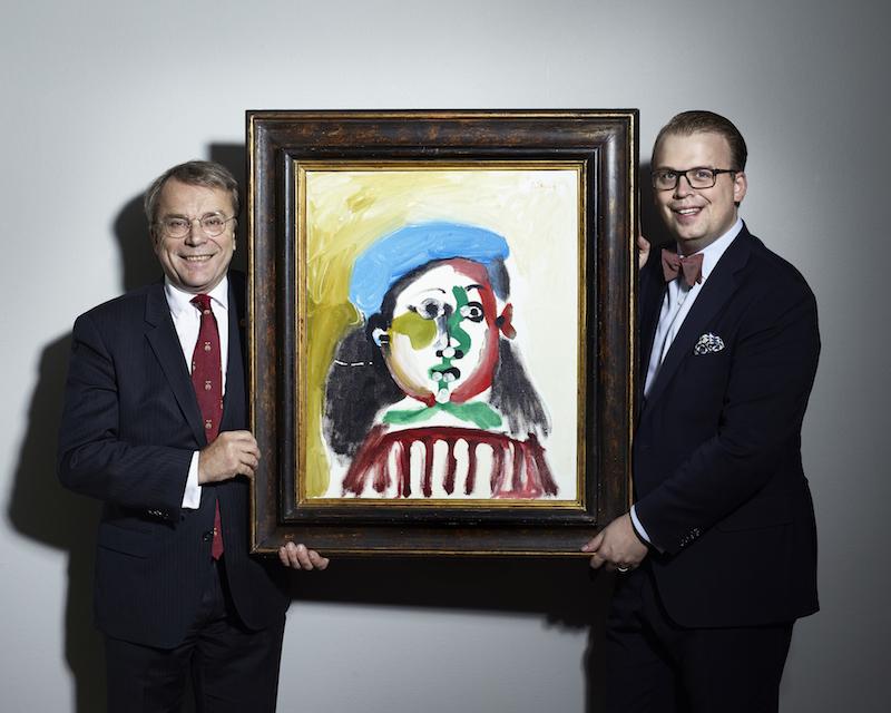 Två av Sveriges gladaste auktionister. Knut Knutsson, ägare och Magnus Bexhed, VD