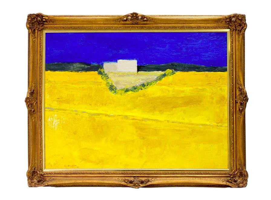 BERNARD CATHELIN (1919 Paris - 2004 ebenda) - Ferme Aux Champs de Colza, Öl/Lwd., signiert und datiert, 1997