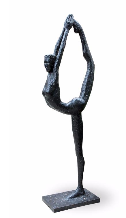 De Manca, Grâce, 2014 Sculpture-volume en résine acrylique sur structure acier