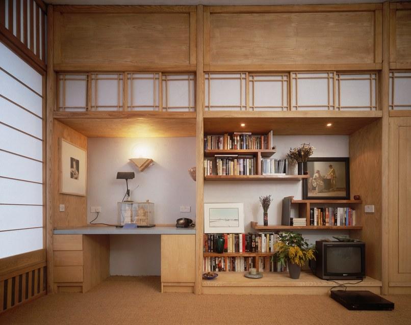 Ett japanskt vardagsrum under 1990-talet. Foto via architecturaldigest.