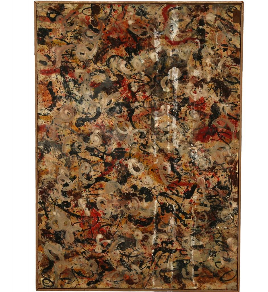 Jackson Pollock, «Gouache sans titre», fin des années 1950-60, image ©Creators Vice