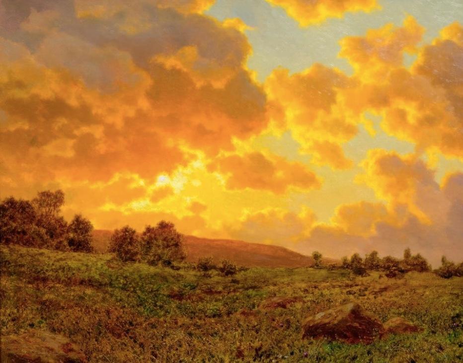 IVAN FEDOROVICH CHOULTSE, Soir doré (Pays Basque), Huile sur toile, 54,5 x 65,5 cm, signé Estimation: 60.000-80.000 CHF (55.560-74.070 EUR)