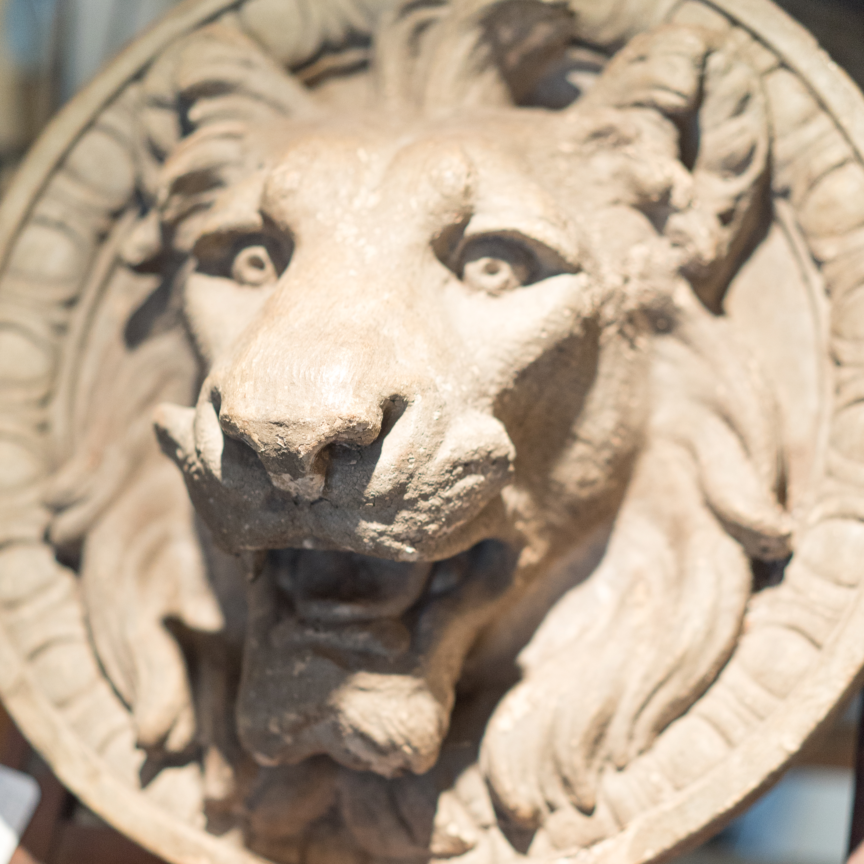 19th Century Terracotta Lion Head
