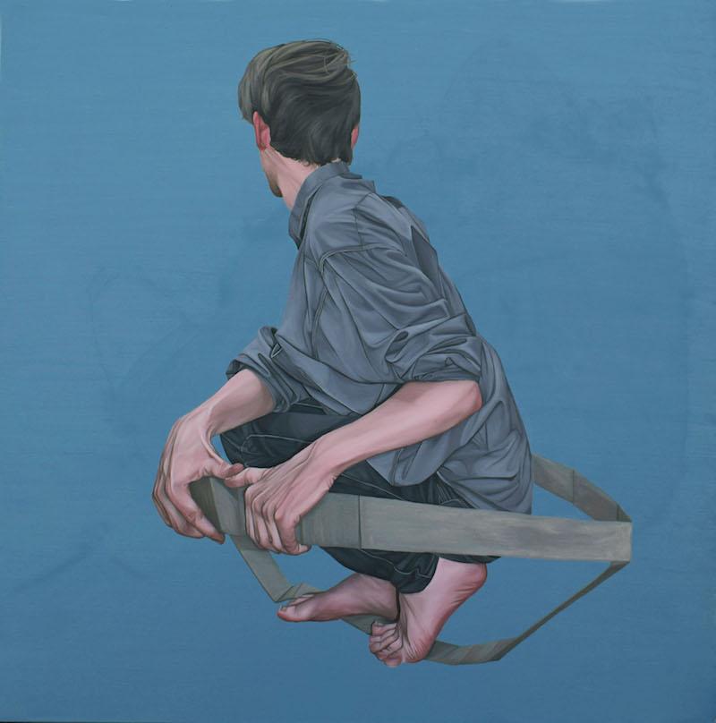 """Galleri Helle Knudsen, Amanda Karlsson,""""Auf Nach Irgendwo"""", 100 x 100 cm, 15 000 SEK"""