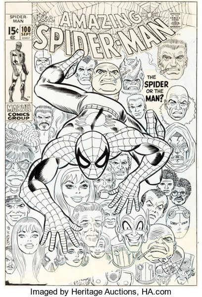 Cover art, Spider-Man 100