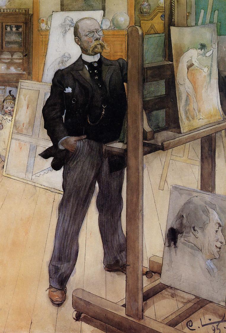Självporträtt, Carl Larsson. Bild Wikimedia Commons