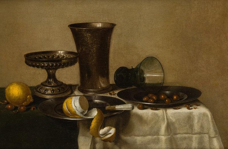 "WILLIAM CLAESZ HEDA (Haarlem 1594-1670). ""Bodegón con roemer"""