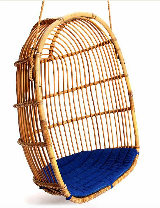 Hängstol i bambu, 1960-tal. Bruun Rasmussen. Utropspris: 2500 kronor.