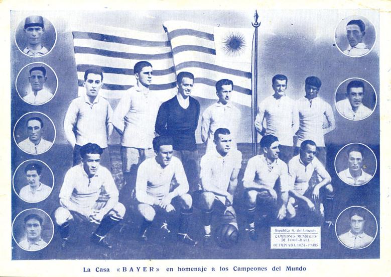1924, Uruguay, publicité de l'équipe de football olympique David Feldman