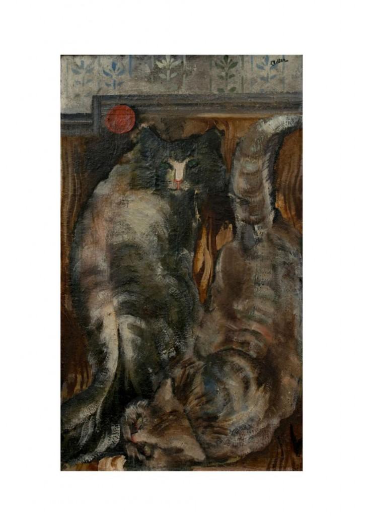 JANKEL ADLER (1895 Tuszyn - 1949 Aldbourne) - Zwei Katzen, Öl/Lwd., signiert