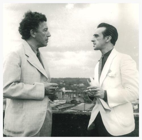 André Breton und Eugenio Granell 1941
