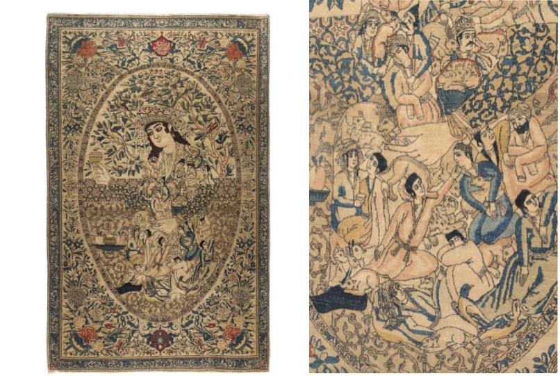 Isfahan-Teppich, signiert, Zentral-Persien um 1880