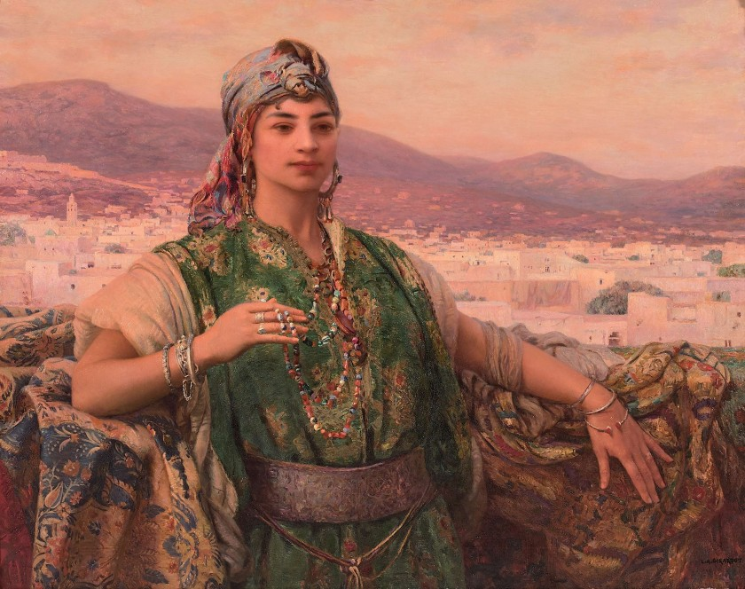 Louis-Auguste Girardot, 'Jeune femme sur la terrasse devant Tétouan (Young Woman on the Terrace in Front of Tetouan)', Photo: Artcurial