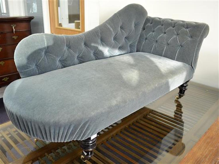 19th century chaise long. Estimate $80 - $155. Photo via Ewbank's