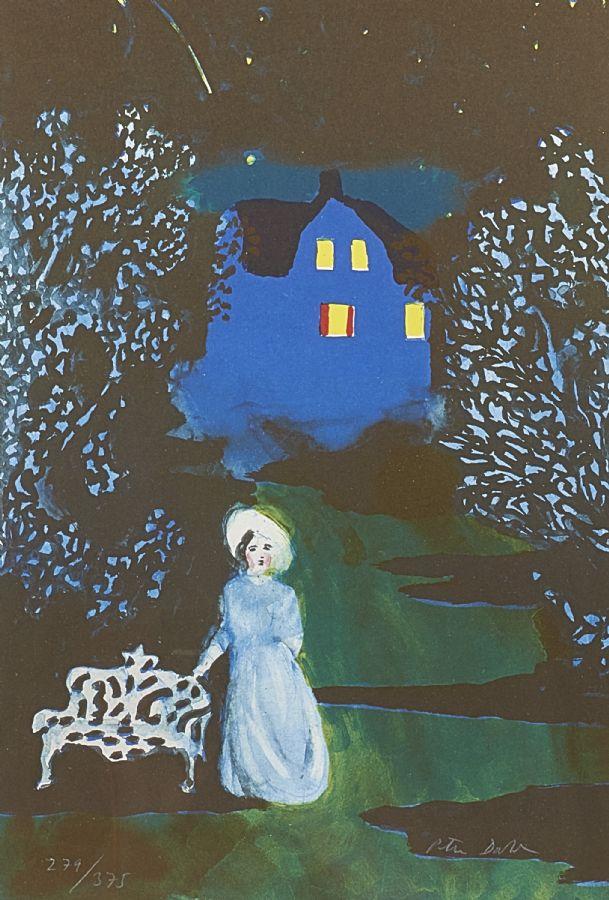 Peter Dahl (f. 1934), Farmors hus, 279/375, motivet: 43x29. Utrop: 1,500 Sek. Metropol Auktioner