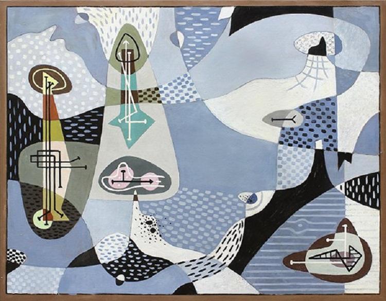 """Untitled"" av George Onslow Ford, 1945 såldes för 785 000 SEK."