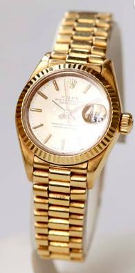 Rolex Oyster Perpetual Datejust gult guld.