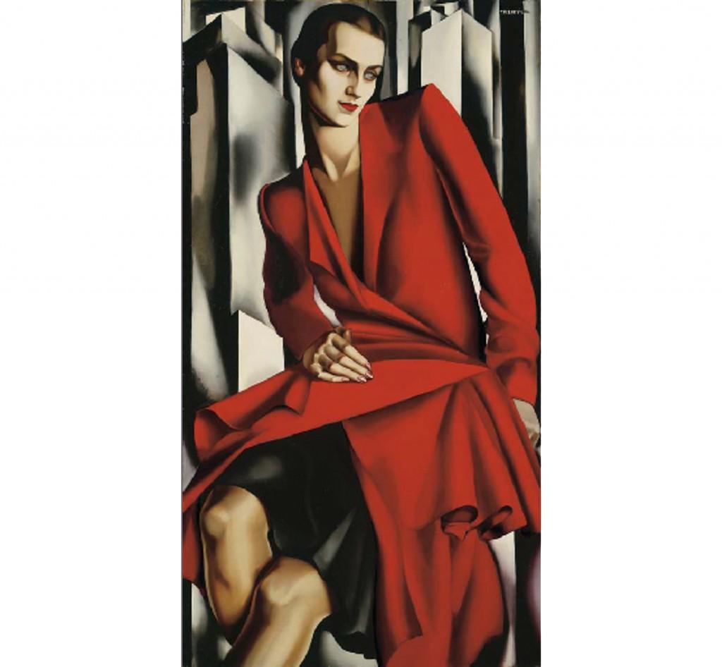 07. Tamara de Lempicka, « Portrait de Mrs Bush », 1929, vendu chez Christie's pour 4,1 millions d'euros, image ©Christie's