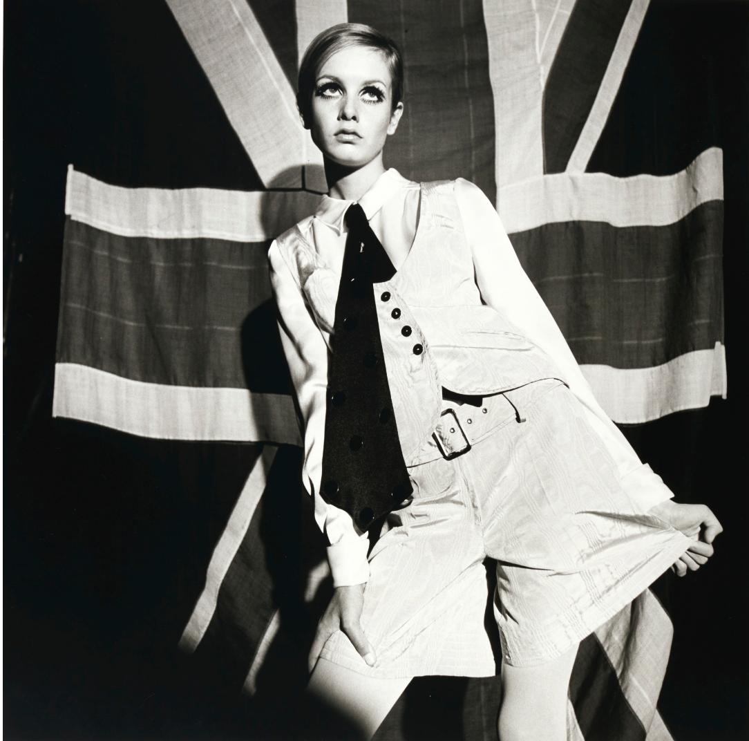 Terence Donovan porträtt av Twiggy, 1966. Foto: Sotheby's.