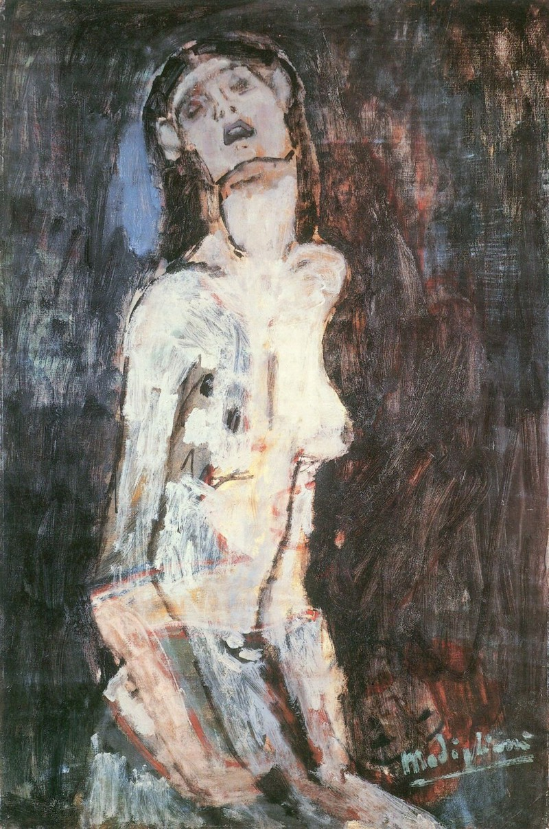 Amedeo Modigliani, Nudo Dolent, 1908 | Abb. via Curiator