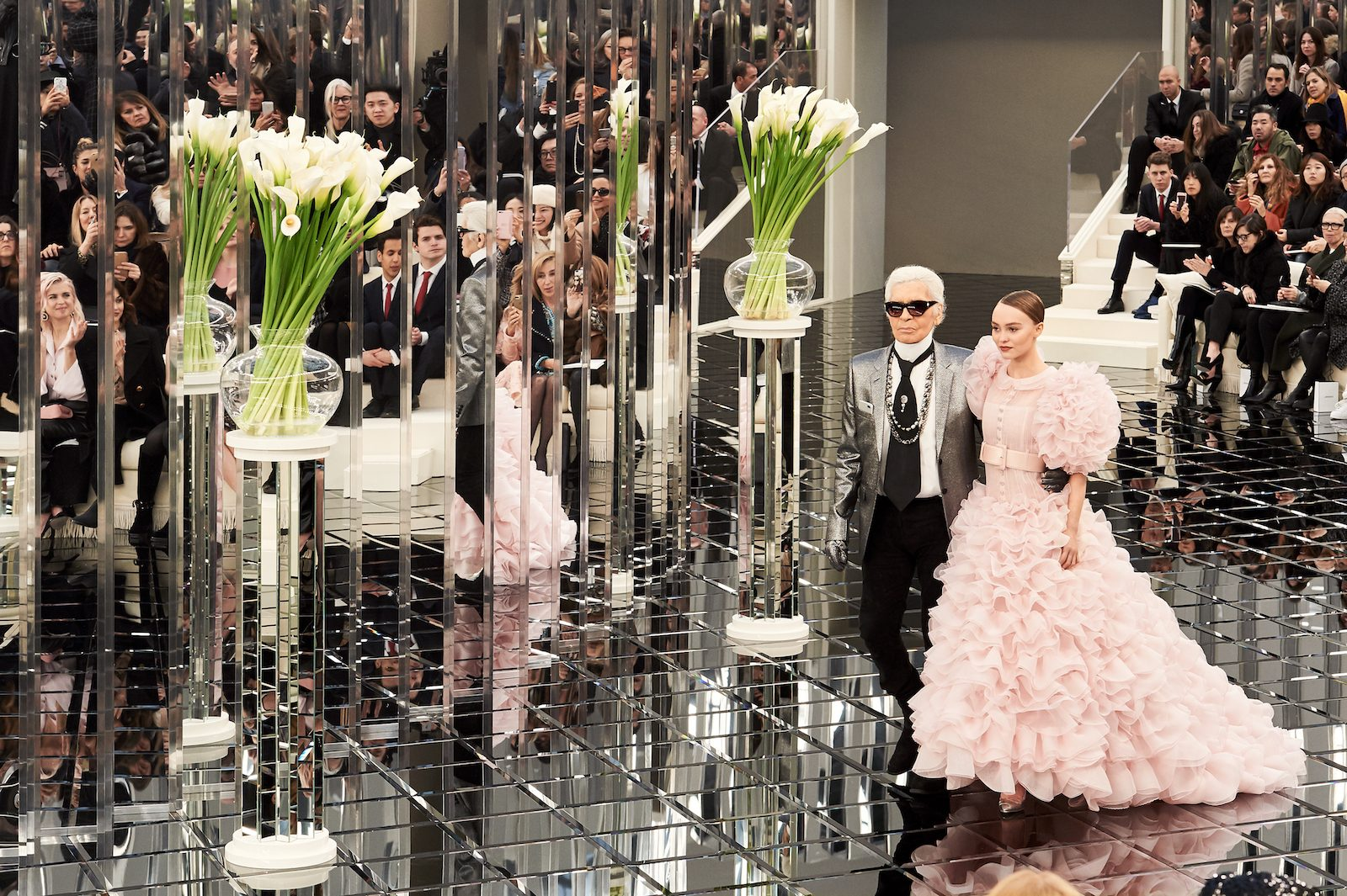 Karl Lagerfeld at the Chanel Haute Couture Show Spring - Summer 2017 at the Grand Palais in Paris. Image: The 6 Million Dollar Story