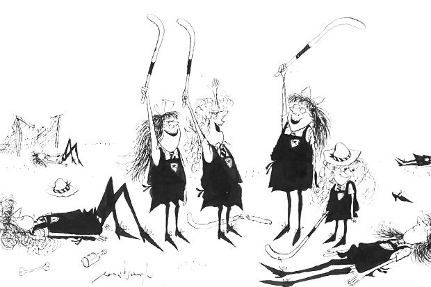 Photo Credit: Jolly hockeysticks for the girls of St Trinian's, Ronald Searle