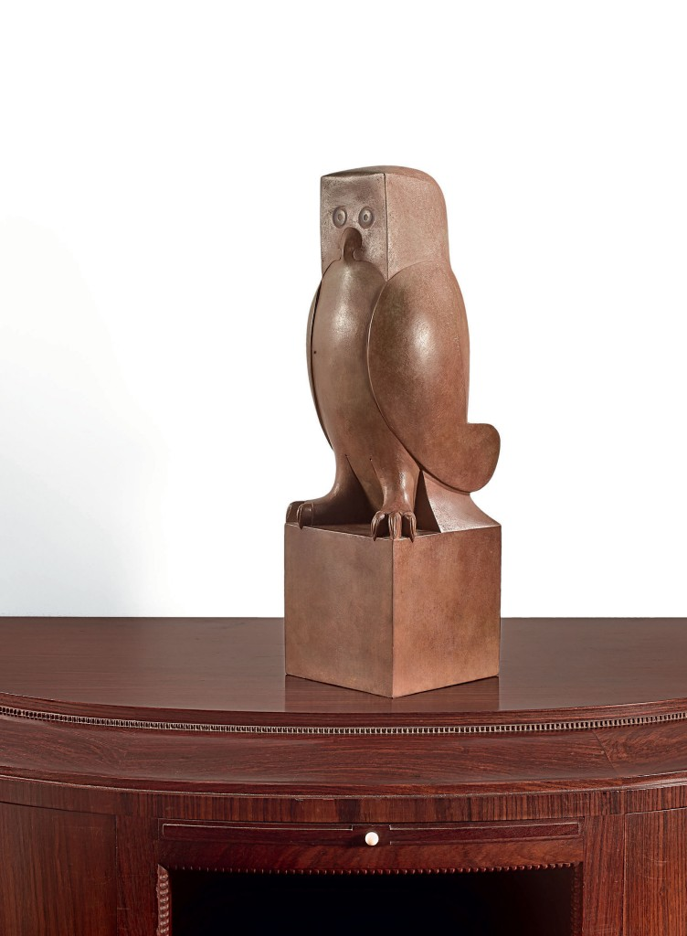 François-Xavier Lalanne, « Hibou de Meryll » sculpture en bronze, image ©Tajan