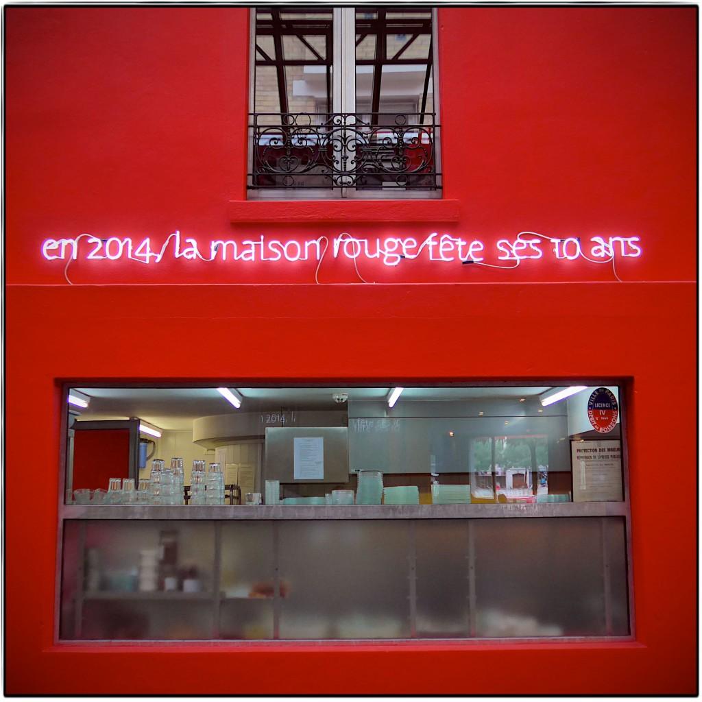 Le mur de la Maison Rouge en 2014 Image via parisandkids.com