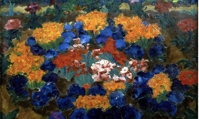 Emil Noldes Blumengarten. Bild via Moderna Museet.