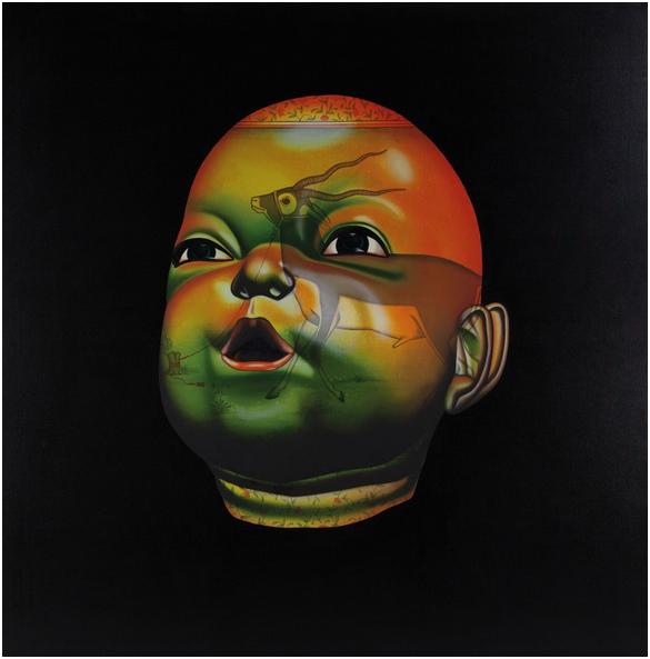 CHINTAN UPADHYAY (1972 Partapur) - Sorry does not matter anymore, Öl u. Acryl/Lwd., 152 x 152 cm, bezeichnet und signiert, 2006 Schätzpreis: 30.000-40.000 EUR Rufpreis: 15.000 EUR