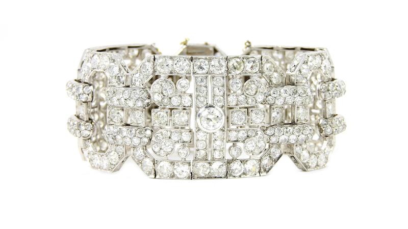 Bracelet Art Déco, Henry Lyon, Paris. Estimation de 17 000-20 000 €