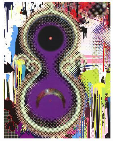 """Takashi Murakami (japonés, n. 1962), """"Genoma No. 10"""" de 2009, litografía ófset, firmada y numerada"""