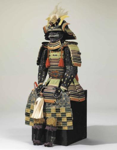 Armure complète iroiro odoshi ni-mai do gusoku de période Edo Image via Christie's
