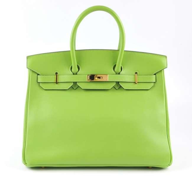 Sac Hermès Birkin vert pomme