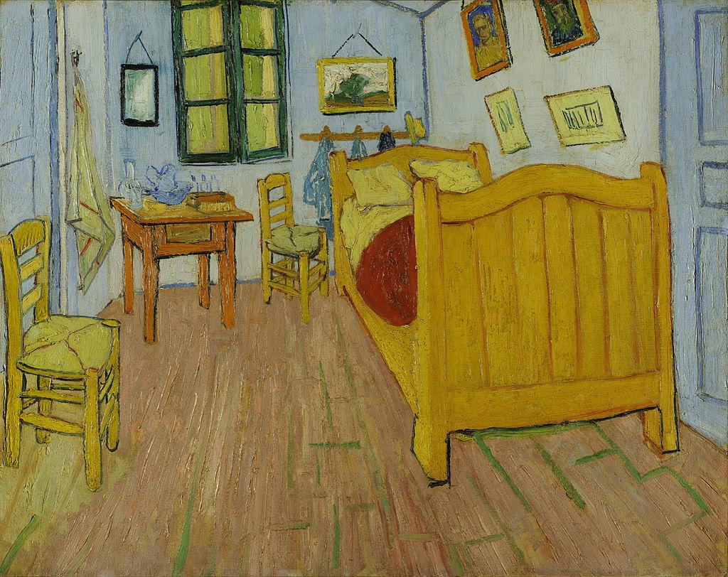 """Vincent van Gogh, """"Bedroom in Arles"""" 1888 Bild via Van Gogh Museum, Amsterdam"""