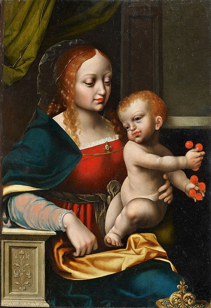 Vierge à l'Enfant, École d'Anvers vers 1560 Estimation basse: 16 000 euros