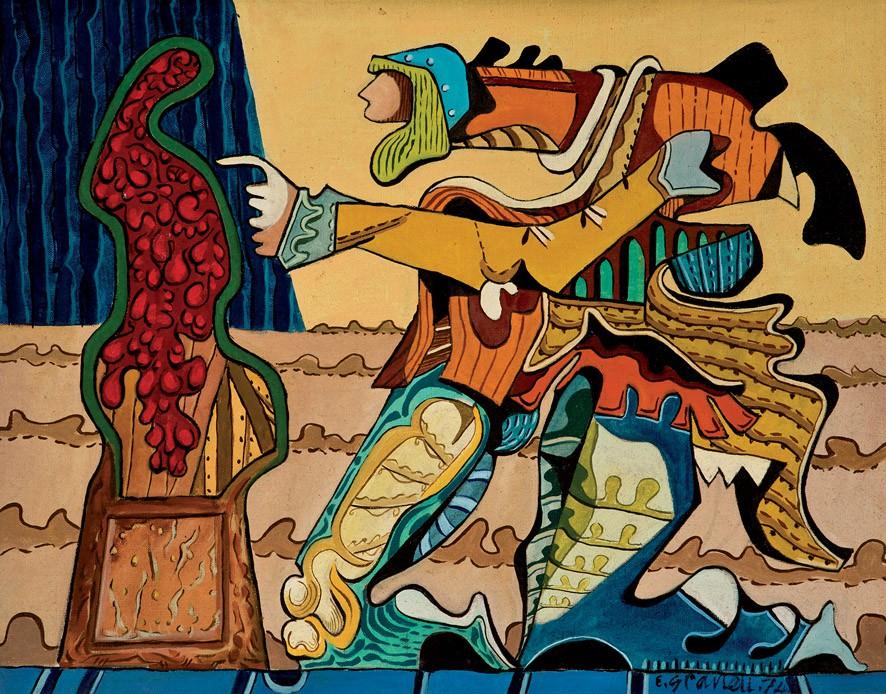 EUGENIO GRANELL (1912-2001) - El escultor meticuloso, Öl/Lwd., signiert und datiert, 1974