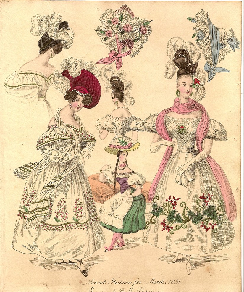 Unknown Artist, Print from 'The World of Fashion and Continental Feuilletons', 1831. Photo: Frontispiece