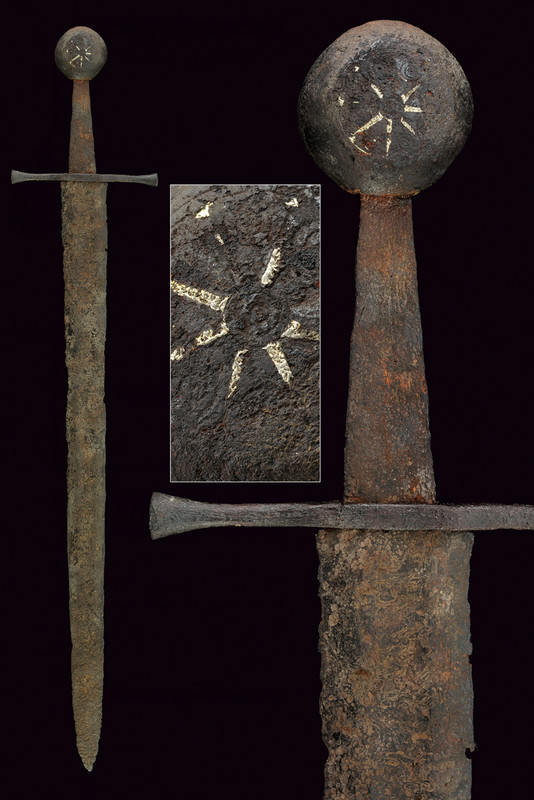 Medieval sword with remains of Silberdekor, Germany, first quarter of the 12th century