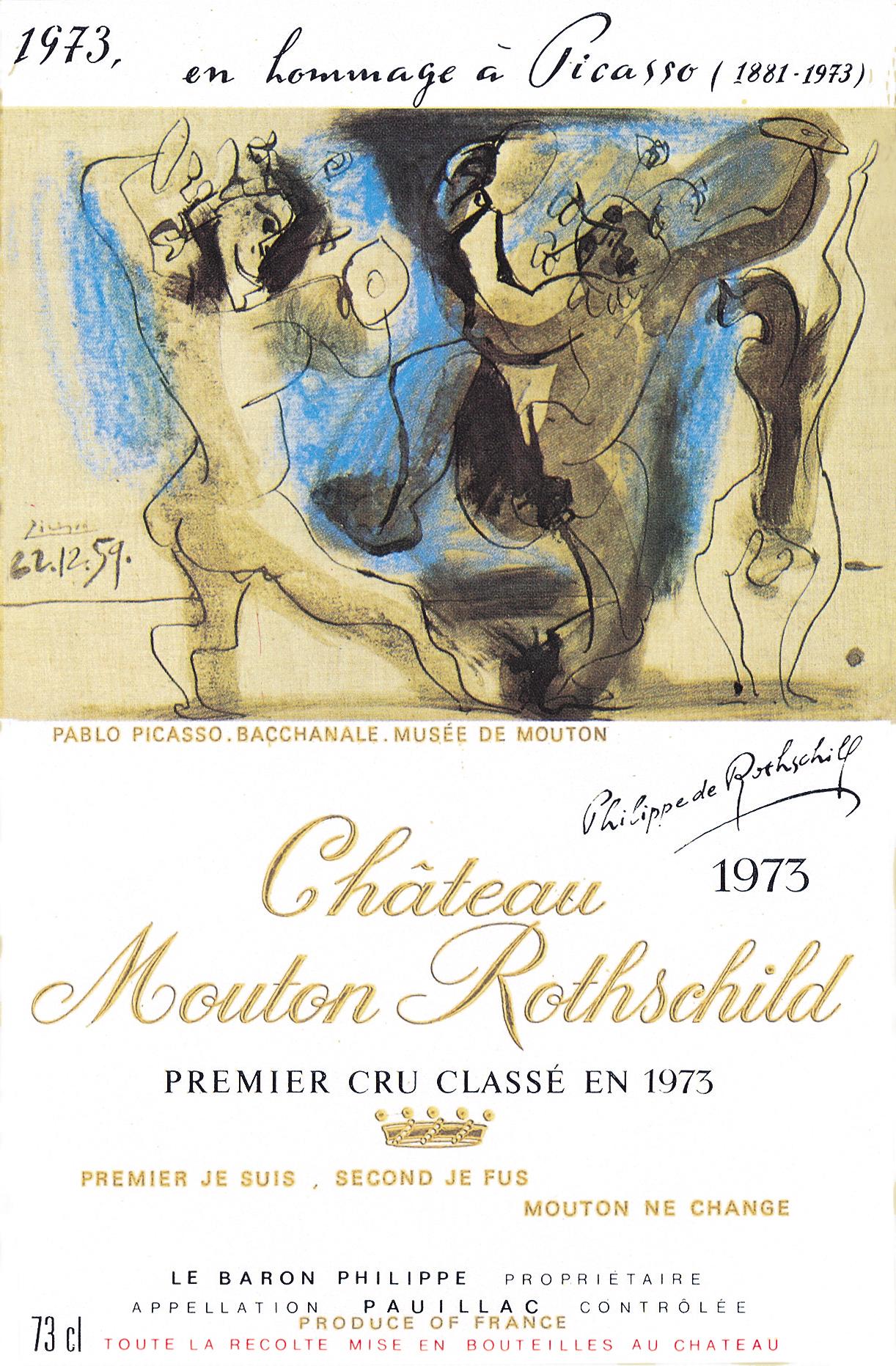 Le millésime 1973 par Pablo Picasso