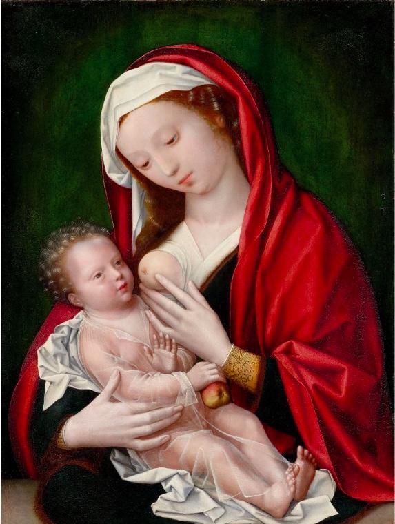WILLEM BENSON (1521/22 Brügge - vor 1574 Middelburg) - Maria mit dem Kind, Öl/Holz, 1555 oder später