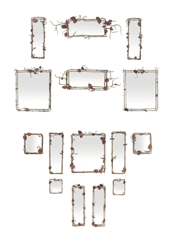 Ensemble de quinze miroirs aux branchages, 1974-1985, image ©Christie's